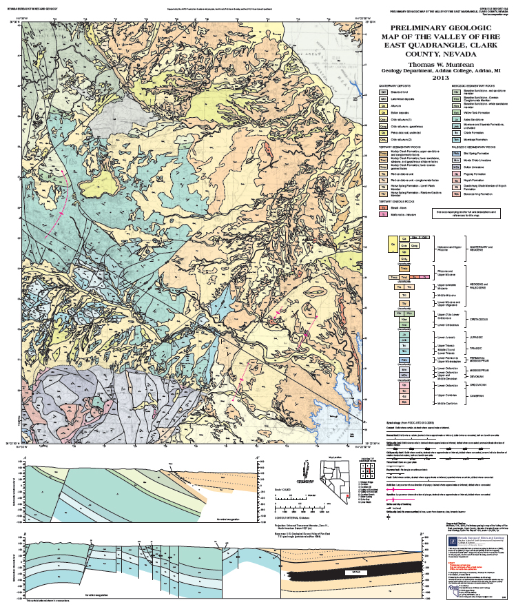 New Geologic Maps In Elko And Clark Counties Nbmg