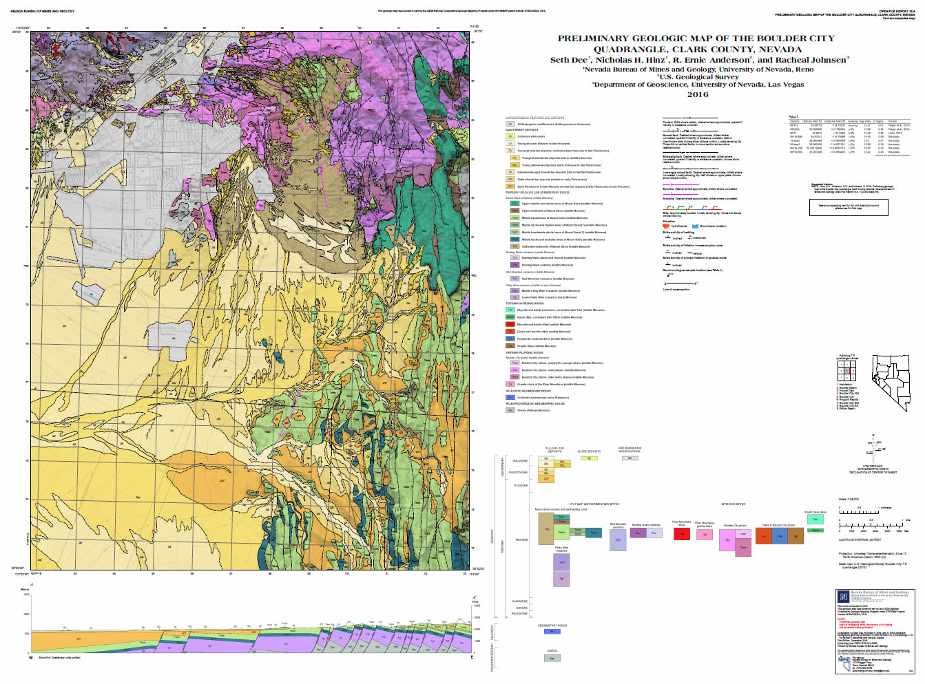 New Geologic Maps in Clark County: Boulder City and Apex ... on las vegas valley map, william clark map, clark island map, clark school map, clark sd map, north las vegas map, clark colorado map, las vegas township map, nevada map, sandy valley map, ohio map,