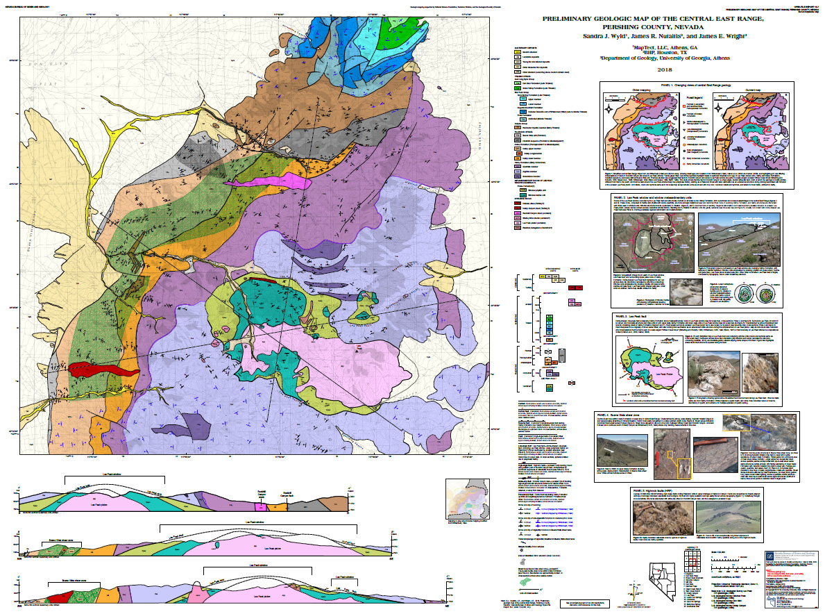 Geologic Map Of Georgia.Preliminary Geologic Map Of The Central East Range Pershing County